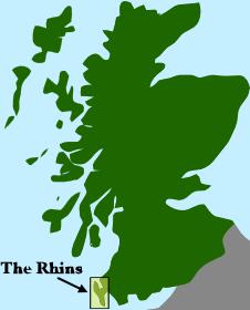 rhins location scotland map